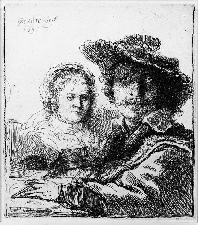 Saskia, de vrouw van Rembrandt -1038